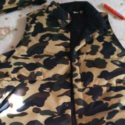 A Bathing Ape Yellow Camouflage Down Vest