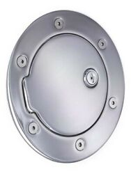 All Sales 6040cl Race Style Chrome Locking Fuel Door 6 11/16 Ring O.d. 4 1