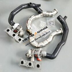 Td04l 16t Twin Turbos+2'' Inlet Pipes+3'' Catless Downpipes For Bmw N54 335xi