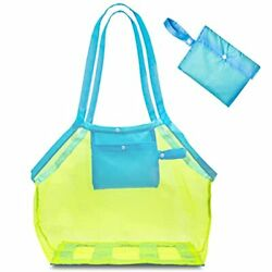 Mesh Beach Bags and Totes for Groceries Shopping Summer Pool Toys Mash Bag $19.48