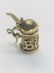 9ct Gold German Beer/bier Tankered Moveable Charm/pendant