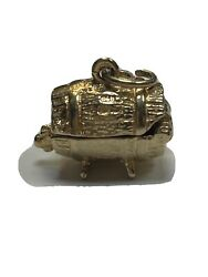 9ct Gold Beer Barrel Movable Charm/pendantidea Gift