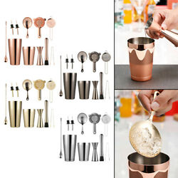 11x Cocktail Shaker Set Drink Mixing Measuring Jigger Mixing Spoon Home