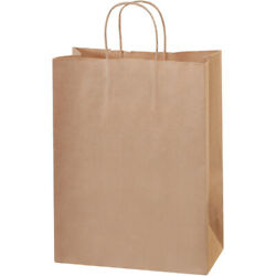 10 X 5 X 13 Kraft Brown Paper Mailers Shopping Bags With Handles, 2500 Pack