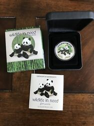 Tuvalu 2011 Wildlife In Need 1oz Silver Proof Coin Giant Panda
