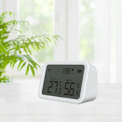 Indoor Thermometer Hygrometer With Lcd Display For Room Garden Wine Cellar