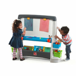 Kids Dry Erase Easel Double-sided Artistic Play Set Two Oversized Art Surface