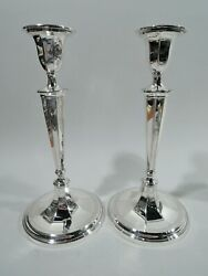 Candlesticks - 19221 - Antique Neoclassical - American Sterling Silver