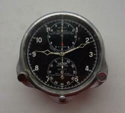 1930 Jaeger Lecoultre Aviation Military Chronograph Watch 83 Mm