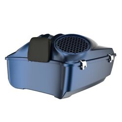 Big Blue Pearl Dual 8and039and039 Speaker Lids Fits Advanblack/harley King Tour Pak Pack