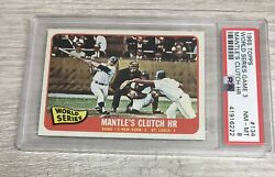 1965 Topps Mickey Mantle World Series Game 3 134 Psa 8 Nm-mt G4d