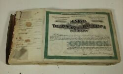 Antique Maine Telephone And Telegraph Co Stock Certificate Book 1906 New England