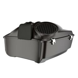 Black Forest Dual 8and039and039 Speaker Lids Fits Advanblack/harley King Tour Pak Pack