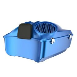 Electric Blue Dual 8and039and039 Speaker Lids Fits Advanblack/harley King Tour Pak Pack