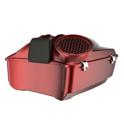 Hard Candy Hot Rod Red Flake Dual 8and039and039 Speaker Lid Fit Harley/advanblack Tour Pak