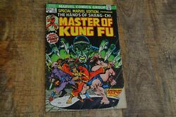 Special Marvel Edition 15 Masters Of Kung Fu Comic Book First Shang Chi Gd 2.5