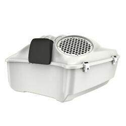 Stone Washed White Pearl Dual 8and039and039 Speaker Lids Fits Advanblack/harley Tour Pak
