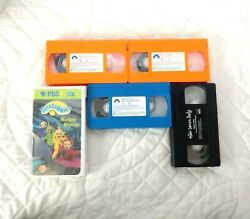 Lot 5 Vhs Tapes Vintage 90and039s Blueand039s Clues The Wiggles Teletubbies Pbs Education