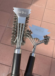 2 Piece 18 Stainless Steel Wire Bristle And Bbq Grill Cleaning Brush Set