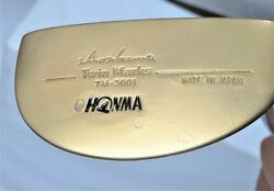 Gold Honma Tm-3001 Putter 33.25inches Golf Clubs Japan Nwo