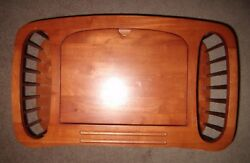 Vintage Rare Wood Computer Laptop Magazine Stand Holder Folding Bed Chair