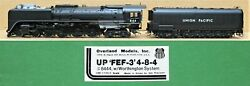 Omi Up/union Pacific 4-8-4 Fef-3 Northern Steam Engine Brass S-scale