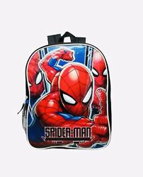 """Marvel Spider Man 15"""" Backpack School Supplies For Kids Boys Toddlers $14.99"""