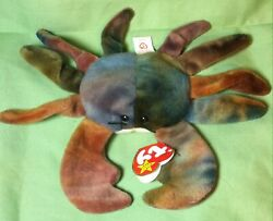 Ty Beanie Babies Claude The Crab Rare With Errors No Red Star On Tush Tag Pvc