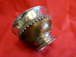Rare Omar Ramsden Arts And Crafts 1924 Silver And Hardwood Mazer Bowl.super Piece