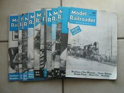 Lot Of 12 Model Railroader Magazine Issues From 1948 - Trains Vintage