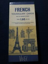 Vintage Vis-ed French Vocabulary 1000 Flash Cards, Learn French Home School