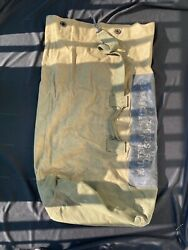 1957 Us Army Large Duffle Bag Cotton Duck By Sanitary Sleep Products Named