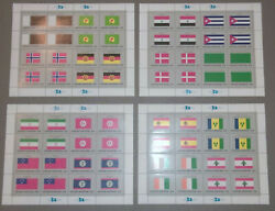 United Nations Flag Series - 4 Sheets - With Original Envelope