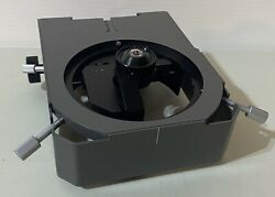 Olympus Vanox Microscope Stage Carrier With Condenser Top Lens