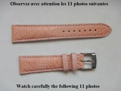 0 25 32in strap Alligator Real Pink Pastel 0 5 8in With The Loop Top Quality