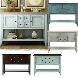 Series Buffet Sideboard Console Table With Bottom Shelf Free Shipping