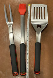 3 Piece Bbq Grill Tool Set Outdoor Grill Accessories Premium Quality Large Stain