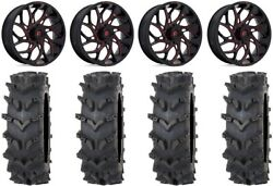 Fuel Runner 20 Wheels Red 35 Outback Max'd Tires Can-am Commander Maverick