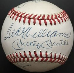500 Home Run Club Autographed Al Ball Mickey Mantle Ted Williams 11 Sig Bas