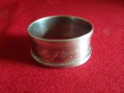 Excellent Birmingham M English Sterling Silver H C And S Napkin Ring Mono A J W