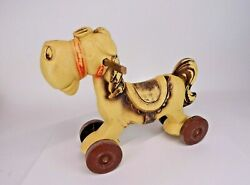 Vintage Worcester Mass Toy Company Ride On Plastic Horse/pony Made In Usa