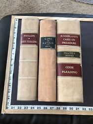 3 Vintage Law Books Including State Of Kansas 1911 1896 1913 Code Pleading