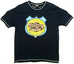 Hanes Beefy T Mens T-shirt No Size Tag S/s Official Dublin Dr. Pepper Bootlegger