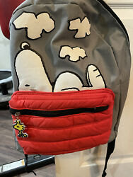 Peanuts Snoopy Backpack With Woodstock Keychain