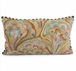 Mackenzie Childs Large Beaded Courtly Check Trim Pillowbrand New W/tags Retired