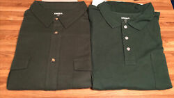King Size Kingsize Men's Big And Tall 3xlt Tall Green Shirts New Lot Of 2