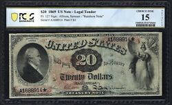 1869 20 Fr-127 Legal Tender ♚♚rainbow Note♚♚ Pcgs Ch Fine 15 Strong Color