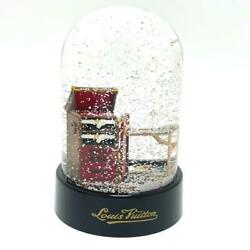 Louis Vuitton Limited Novelty Damier Trunk Snow Globe From Japan 33