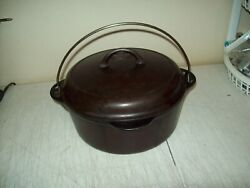 Griswold Cast Iron No 8 Tite-top Dutch Oven Large Logo 1278a W/self Basting Lid