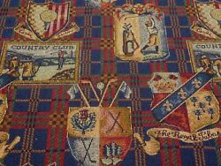 Country Club Jacquard Woven Tapestry Fabric Panel Jewel 54quot; Wide By The Yard
